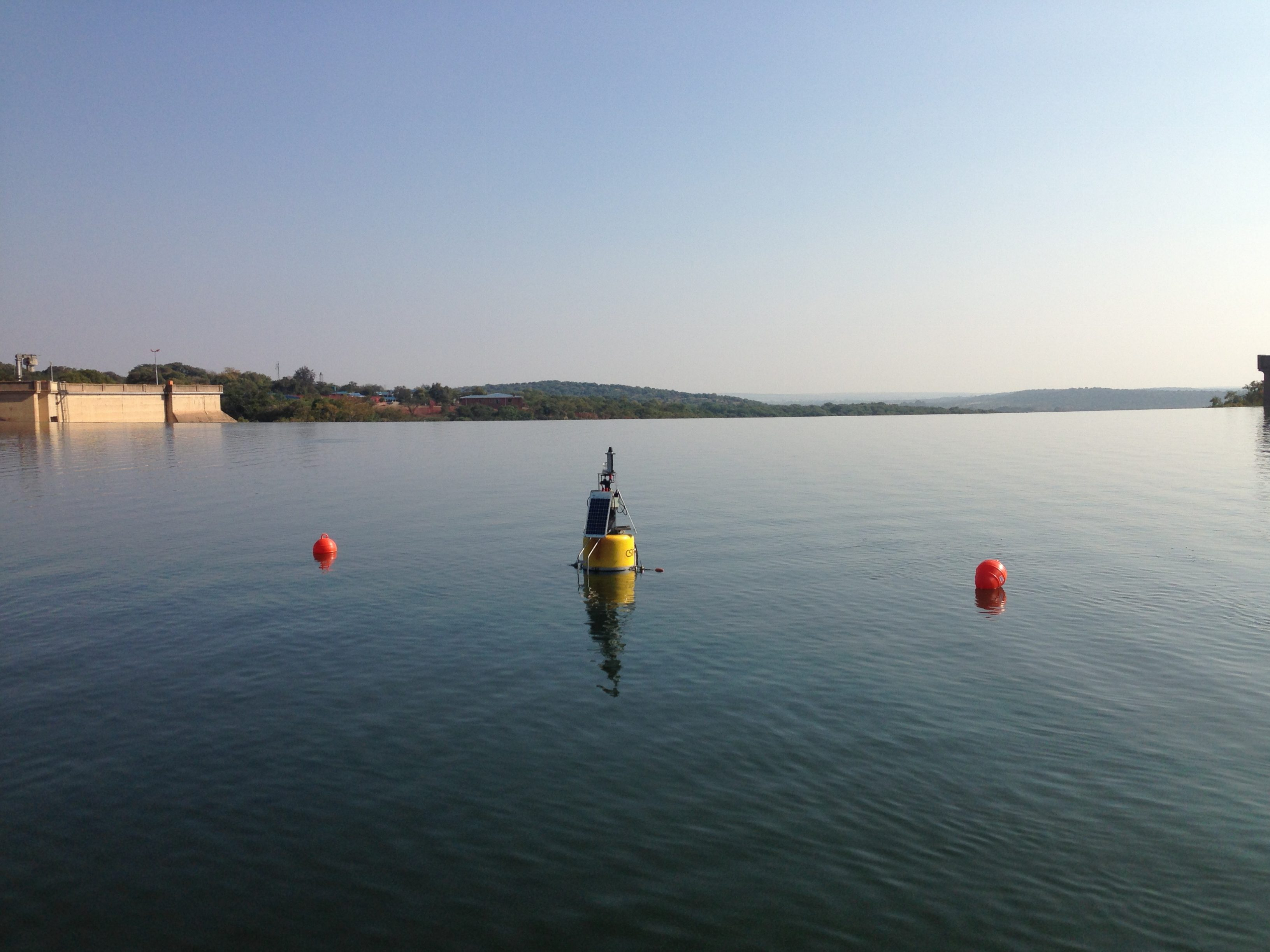 The Buoy suspended in Roodeplaat Dam